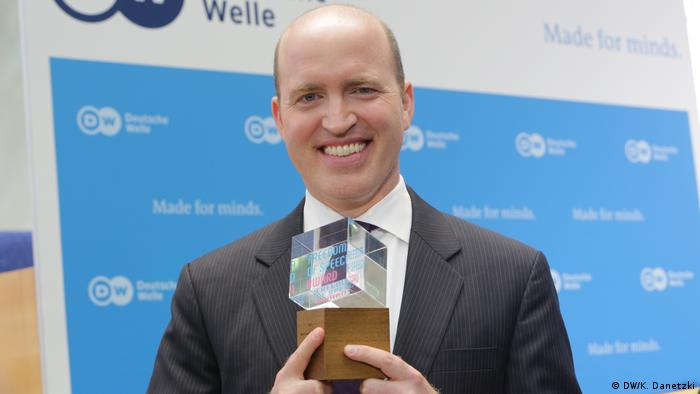 Winner of the Deutsche Welle Freedom of Speech Award 2017: White House Correspondents' Association; Award accepted by Jeff Mason (President, White House Correspondents' Association, USA) (DW/K. Danetzki)