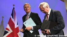Brüssel Beginn Brexit Verhandlungen Barnier und Davis
