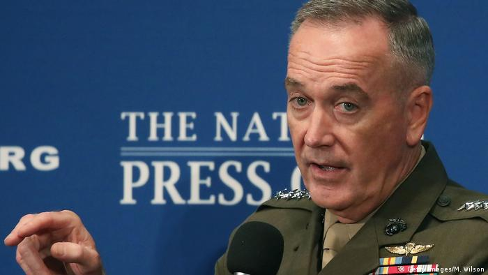 US General Joseph Dunford speaks at the National Press Club in Washington.