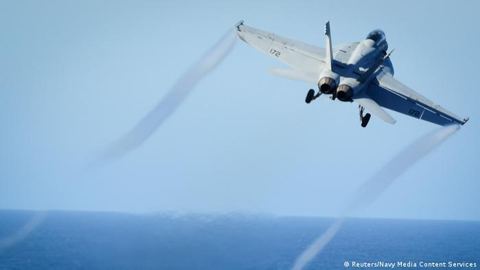 USA-Syrien US-Kampfflugzeug F/A-18E Super Hornet (Reuters/Navy Media Content Services)