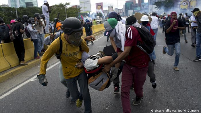 Krise in Venezuela (picture alliance/dpa/M. Quintero)