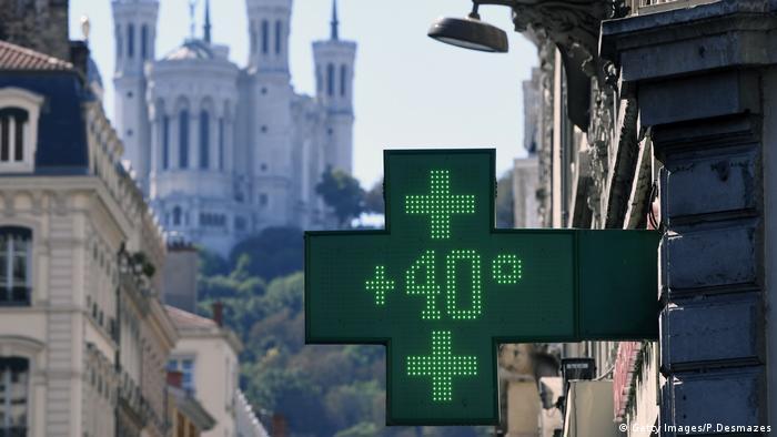 Relógio de farmácia registra 40ºC no centro-leste da França