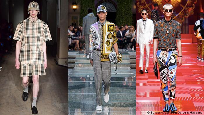 Menswear Spring/Summer 2018 (Burberry, Versace, Dolce & Gabbana)