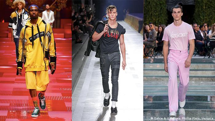 Menswear Spring/Summer 2018 (Dolce & Gabbana, Phillip Plein, Versace)