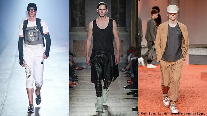 Menswear Spring/Summer 2018 (Plein Sport, Les Hommes, Ermenegildo Zegna)