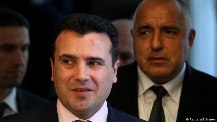 Bulgarien Mazedonien Zaev bei Borissow in Sofia