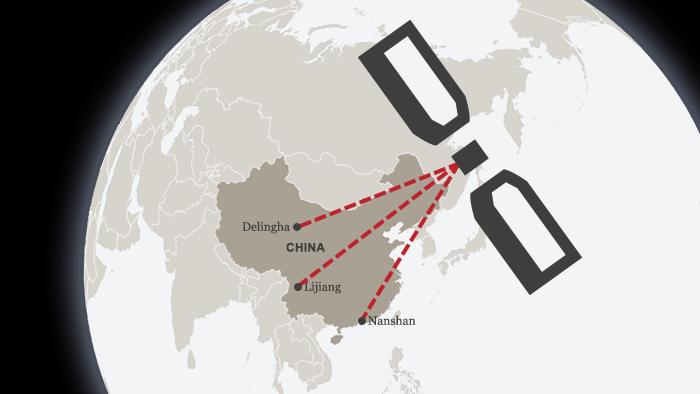 Infografik China Satellit