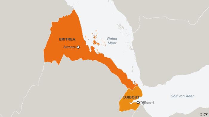 Karte Eritrea Djibouti DEU