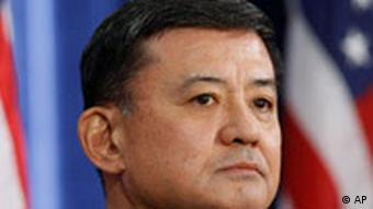 Veterans Affairs Secretary designate Ret. Army Gen. Eric K. Shinseki listens as President-elect Barack Obama, not pictured, speaks during a news conference in Chicago, Sunday, Dec. 7, 2008. (AP Photo/Charles Dharapak)