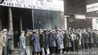 Suppenküche in Chicago nach Weltwirtschaftskrise 1931