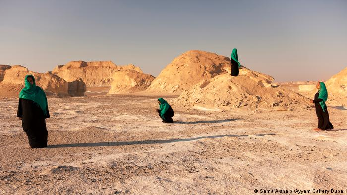 The US-based Iraqi-Palestinian artist took the images while traveling to various desert regions and oases in the Middle East and North Africa (Sama Alshaibi/Ayyam Gallery Dubai)