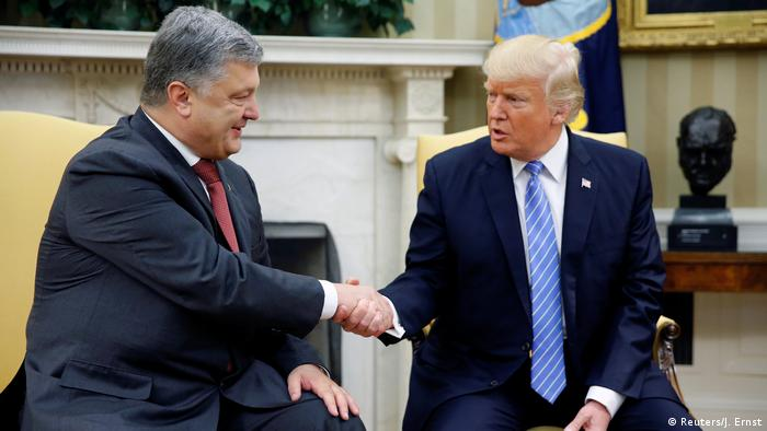 USA Petro Poroschenko & Donald Trump in Washington (Reuters/J. Ernst)