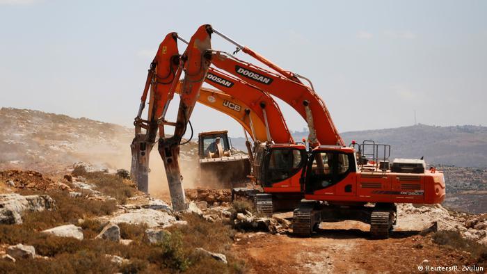 Westjordanland - neue Siedlung in Amona