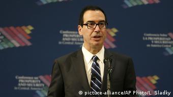 Miami Steve Mnuchin US-Finanzminister (picture-alliance/AP Photo/L. Sladky)