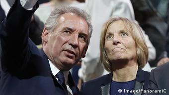Frankreich François Bayrou und Marielle de Sarnez