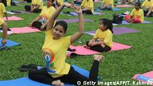 Bangladesch Internationaler Yoga Tag in Dhaka