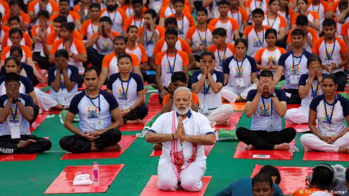 Indien Internationaler Yoga Tag