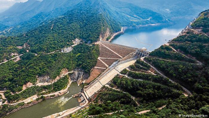 Kolumbien Hidrosogamoso Staudamm