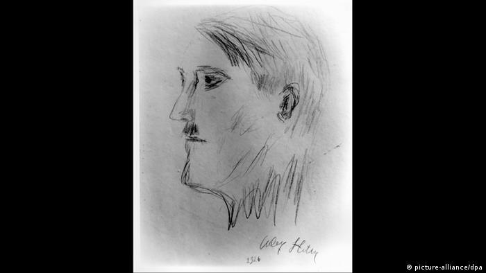 Всичките му роднини го смятаха за бездарник, който бяга от истинската работа, е казал Аугуст Кубичек, приятел на Хитлер от младежките му години. На снимката: автопортрет на Адолф Хитлер.