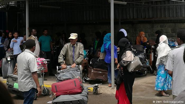 Many Ethiopians are fleeing the country. Recently many were forced back from Saudi Arabia