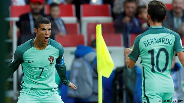 Fußball Confed Cup Russland v Portugal Ronaldo Torjubel (Reuters/J. Sibley)