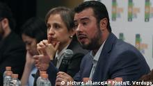 Prodh-Direktor Mario Patrón und die bekannte Journalistin und Buchautorin Carmen Aristegui