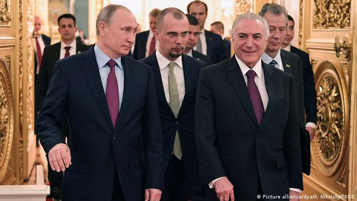 Brasilien Russland Michel Temer und Putin Treffen (Picture alliance/dpa/A. Nikolsky/TASS)