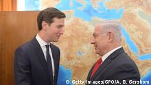 21.06.2017 ++ JERUSALEM, ISRAEL - JUNE 21: (ISRAEL OUT) In this handout photo provided by the Israel Government Press Office (GPO), Israel's Prime Minister Benjamin Netanyahu meets with Jared Kushner on June 21, 2017 in Jerusalem, Israel. (Photo by Amos Ben Gershom/GPO via Getty Images)