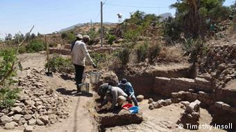 Äthiopien Ausgrabung einer alten Stadt
