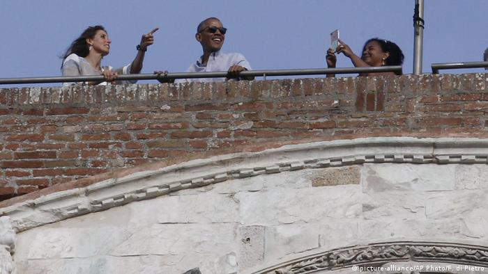 Barack Obama im toskanischen Siena (picture-alliance/AP Photo/F. di Pietro)