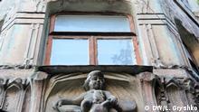 Ukraine verfallenes Gebäude in Kiew