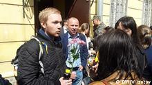 Junge Menschen, die in Sankt-Petersburg am 12. Juni während einer Protestaktion verhaftet wurden, wurden freigelassen. DW-Korrespondent Vladimir Izotov, 22062017