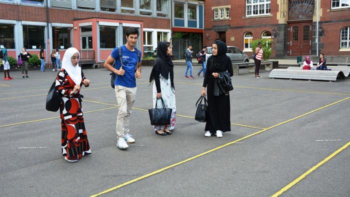Minderjährige Flüchtlinge in einer deutschen Schule