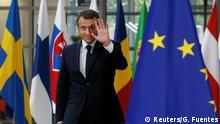 EU Gipfel Emmanuel Macron Ankunft