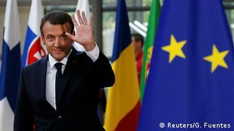 EU Gipfel Emmanuel Macron Ankunft (Reuters/G. Fuentes)