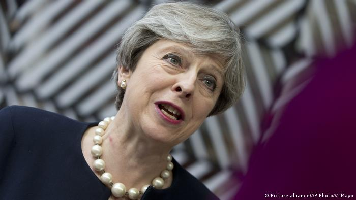 EU Gipfel Theresa May Rede (Picture alliance/AP Photo/V. Mayo)