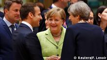 EU Gipfel Emmanuel Macron Angela Merkel und Theresa May