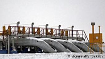 General view of the Russian gas-measuring station 'Sudzha' near the Ukrainian border, Russia, 11 January 2008.