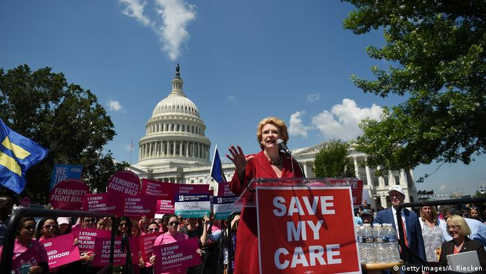 USA Protest gegen Trumpcare (Getty Images/A. Riecken)