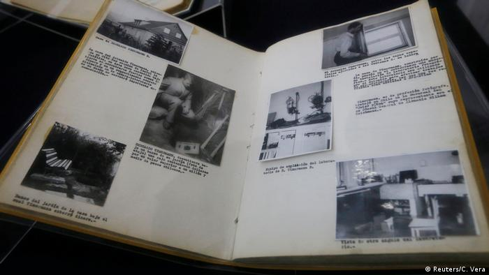 A book of Chile's Civil Police with declassified files relating to Nazi espionage in Chile (Reuters/C. Vera)
