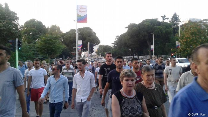 Albanien Tirana Parlamentswahlen