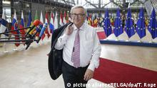 Juncker in Brussels (picture allianceBELGA/dpa/T. Roge)