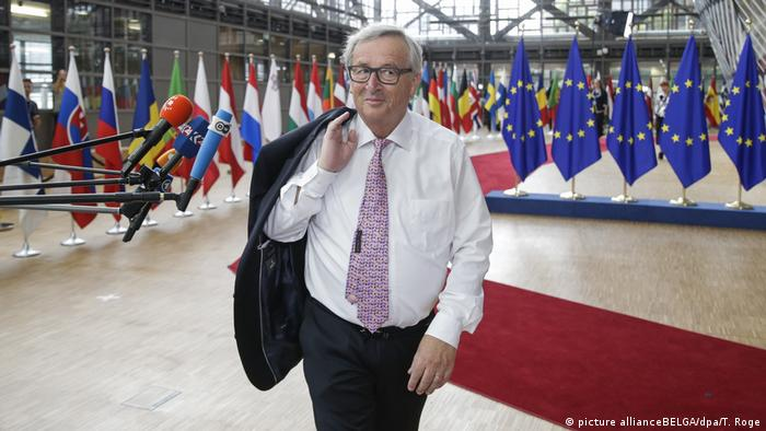 European Commission President Jean-Claude Juncker also made a relaxed impression
