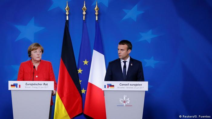 Belgien Brüssel EU-Gipfel Angela Merkel und Emmanuel Macron