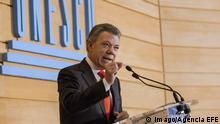 Frankreich Juan Manuel Santos, Präsident Kolumbien bei der UNESCO