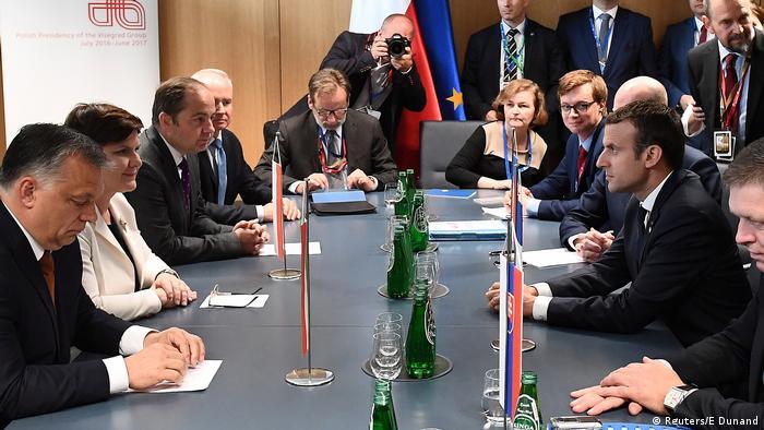 Grupul de la Visegrad (stânga) vs Vestul UE