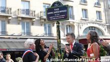 Frankreich Einweihung Gabriel Garcia Marquez-Platz in Paris - Juan Manuel Santos