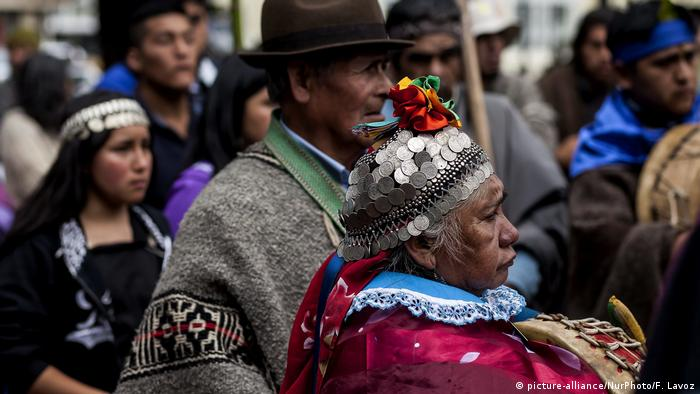 Mapuche community members mark 9 years since the police killing of student Matias Catrileo during a land protest in January 2008