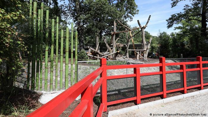 Panda enclosure in Berlin