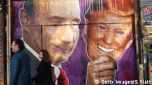 USA Mural Putin Trump in Brooklyn